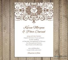 Free Downloadable Wedding Invitation Templates Download Free Wedding Invitations Vintage Wedding Invitation 6