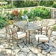 pembrey patio set bay outdoor dining set 7 piece metal outdoor dining bay 7 piece decorative