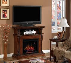 entertainment center with electric fireplace stylish modern corinth vintage cherry wall and corner regard chimneyfree walker