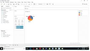 Tableau Pie Chart With 2 Measures Tableau Pie Chart Tutorial And Example