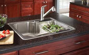 drop in or topmount sink with a granite countertop