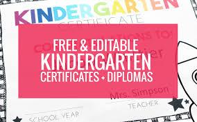 free preschool certificates free end of year certificates and kindergarten graduation