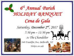 6th parish holiday banquet our lady of mount carmel parish orange nj