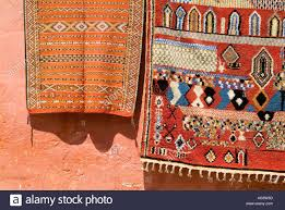 Hanging Rugs Mella Market Souk Marrakesh Morocco Souvenir Carpets Rugs