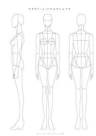 Fashion Illustration Template Front And Back Ellerynewtonco