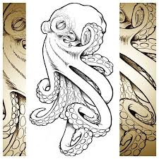 Small Picture Evil Octopus realistic tattoo sketch Best Tattoo Ideas Gallery