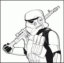 Storm Trooper Coloring Page Warm Stormtrooper Pages Star Wars Along