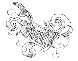 Small Picture Realistic Koi Fish Coloring Pages Coloring Pages