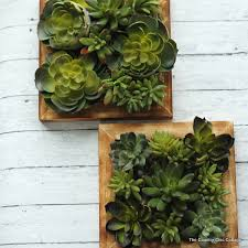 a fun faux succulent wall hanging that you can make in 10 minutes or less
