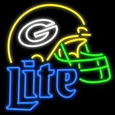 Miller Lite Packers Neon Sign Neon Sign For Sports Bar Or Restaurant Sports Neon Signs 6
