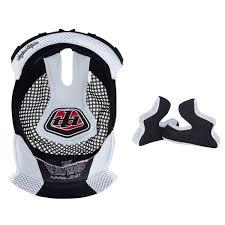 Troy Lee Designs Pads Troy Lee Designs Helmet Liner And Cheek Pads D3 White