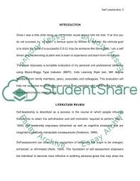 Self Leadership Essay Example Topics And Well Written