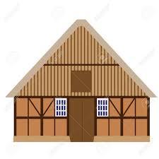 old wooden barn vector isolated farm house barn door farm building stock