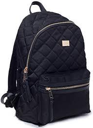 Woman Backpack TOYOOSKY Black Casual School Backpack Purse Daypack ... & Woman Backpack TOYOOSKY Black Casual School Backpack Purse Daypack Rucksack  Classic Quilted Bookbag for Women Girls Adamdwight.com