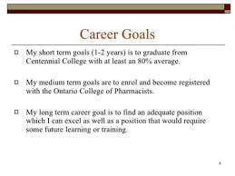 Career Goals Examples 10 11 Short Term Career Goals Examples Elainegalindo Com