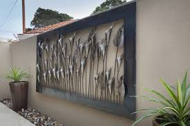 outdoor wall decor ideas metal art outside likeable exterior appealing 5