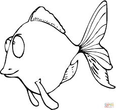 Small Picture Cartoon Goldfish coloring page Free Printable Coloring Pages