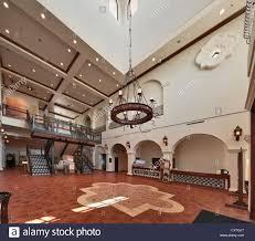spanish revival lighting. Grand Lobby At Museum Of South Texas History, Spanish Colonial Revival Style, Edinburg, Rio Grande Valley, Texas, USA Lighting
