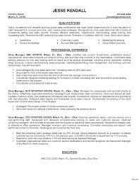 Retail Manager Resume Cover Letter Retail Manager Resume Objective For Store Photo 83