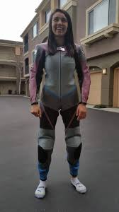 lya ready to go break in her new zooni leathers