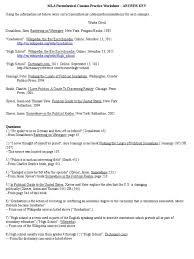 Mla Parenthetical Citation Practice Worksheet Answer Key