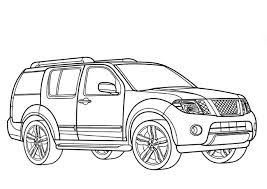 Nissan pathfinder coloring pages