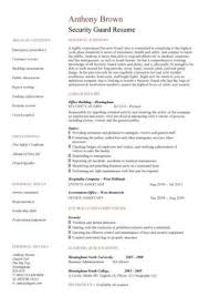 Sample Resume For Security Guard Security Guard Cv Sample