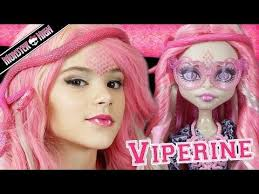 monster high viperine gorgon doll makeup tutorial for or cosplay kittiesmama you