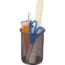 Staples Black Wire Mesh Pencil Holder, Jumbo (11958)