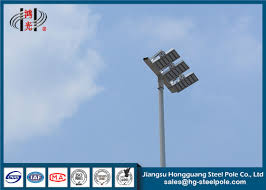 High Mast Lighting Manufacturers Professional Conical Led High Mast Light Pole With 3 Led