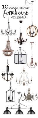 budget friendly farmhouse chandeliers