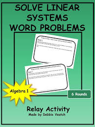 solve linear systems word problems