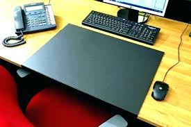 desk angelica computer desk mat glass table protector pads pad office leather sweet idea offi