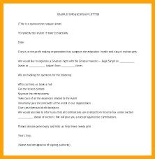 Letter Sponsorship Stunning Sponsorship Cover Letter Template Template Sport Sponsorship