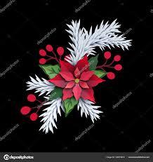 3d Rendern Weihnachten Weihnachtsstern Blume Isoliert Auf