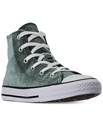 converse youth high tops. converse girls\u0027 chuck taylor high top velvet casual sneakers from finish line youth tops a