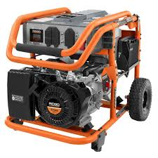 RIDGID 7 500 Watt 420cc Gasoline Powered Electric Start Portable
