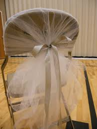 tulle chair bows in white 20 for chair bows