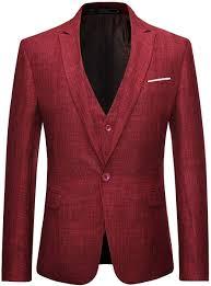 Mens 3 Piece Linen Suit Set <b>Blazer Jacket</b> Tux <b>Vest</b> Suit <b>Pants</b> Men ...