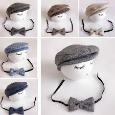 Baby Boy Hat+Tieback <b>Newborn Photography Prop Cute</b> Baby Hat ...