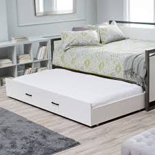 twin size modern metal frame daybed with pullout trundle bed in