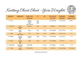 Knitting Yarn Size Chart Yarn Weight Conversion Chart Dont Be Such A Square