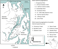 Map Of Hood Canal Strait Of Juan De Fuca And Portions Of