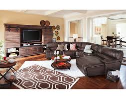 Leather Sectional Living Room Rialto Onyx Leather Sectional Living Room Set Tufted Seat Backs