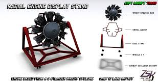 Engine Display Stand Enchanting Second Life Marketplace Radial Engine Display Stand