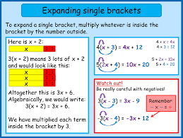help by topic simple algebra skills expand factorise and expanding single brackets norledgemaths