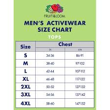 Fruit And Loom Size Chart Fruit Of The Loom Size Chart Cm Best Picture Of Chart