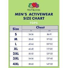 Fruit Of The Loom Sweatshirt Size Chart Fruit Of The Loom Size Chart Cm Best Picture Of Chart