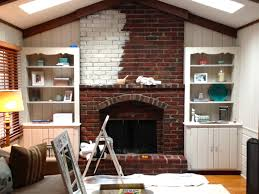 How To Whitewash Brick Whitewash Brick Fireplace Before And After Dactus