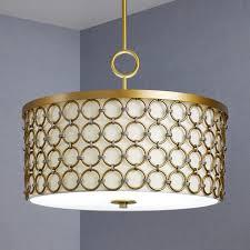 3 light chandelier painted brass